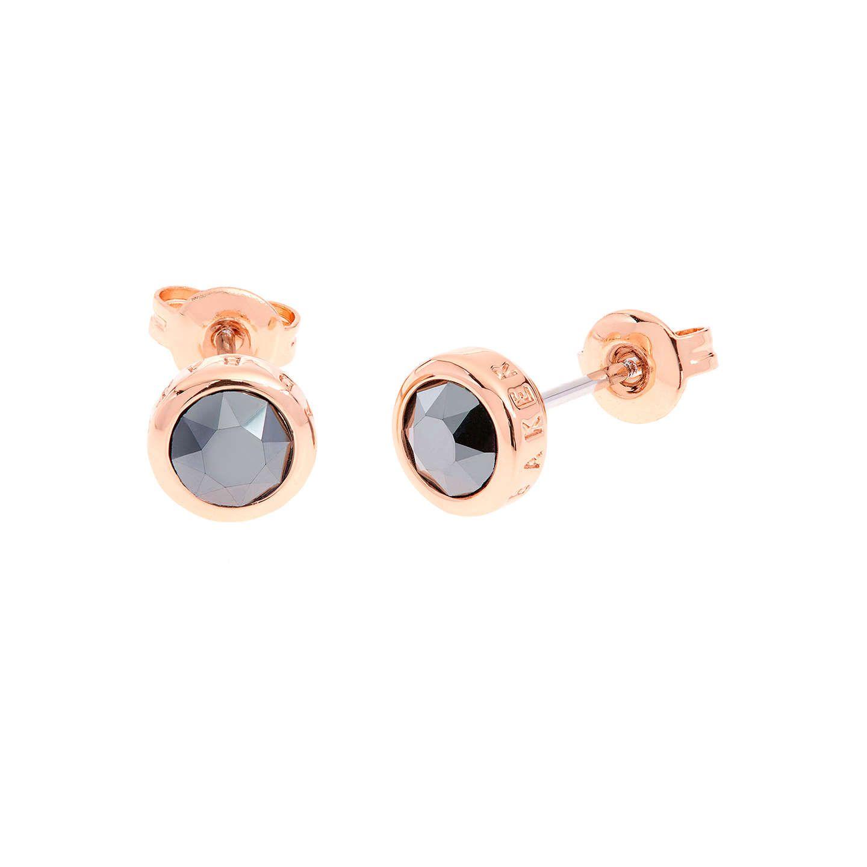 c129a0179 BuyTed Baker Sinaa Swarovski Crystal Stud Earrings, Rose Gold/Jet Online at  johnlewis.com
