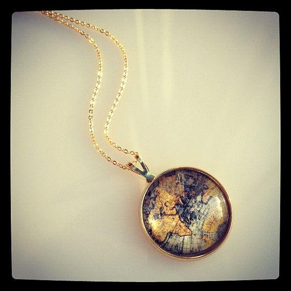 World traveler world map pendant by sweetsparklesheaven on etsy world traveler world map pendant by sweetsparklesheaven on etsy 1300 gumiabroncs Choice Image