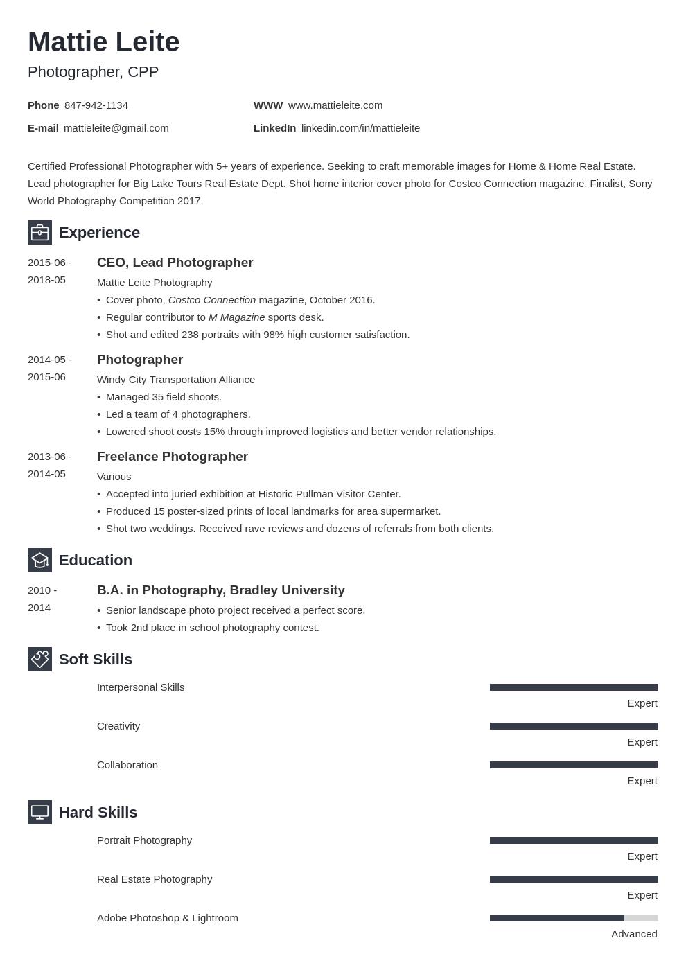 Photographer Resume Example Template Newcast Flight Attendant Resume Civil Engineer Resume Resume Examples