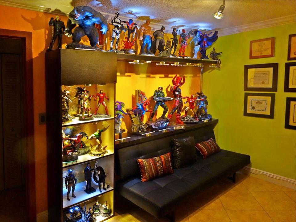 Andres Perez | Statue Room | JCG | Marvel room, Nerd room, Geek room