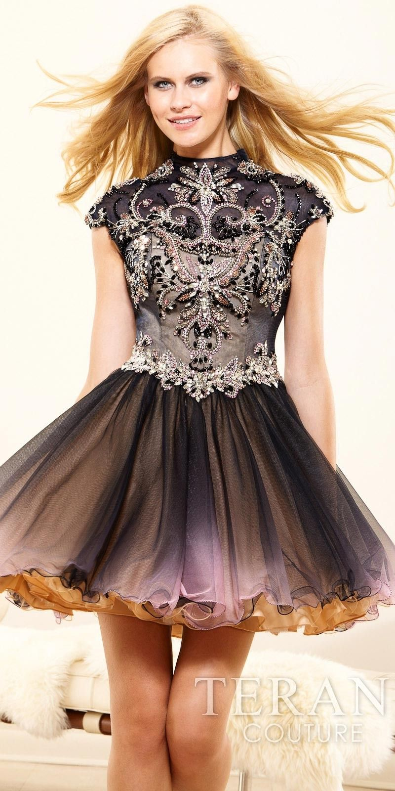 High-Necked Vintage-Look Punk Rocker Prom Dresses by Terani ...