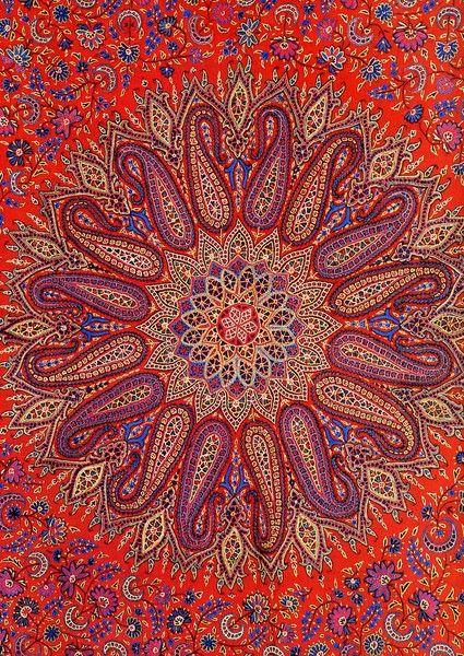 mandalas persianas marruecos bohemio tapices dormitorio portadas cama