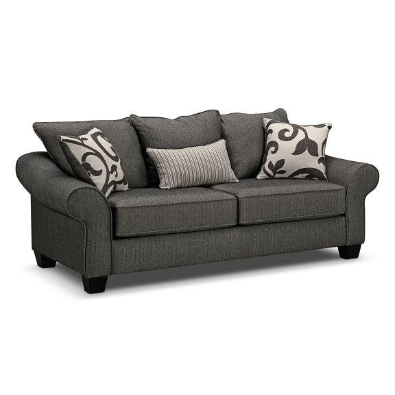 Enjoyable Colette Gray Full Memory Foam Sleeper Sofa By Kroehler At Creativecarmelina Interior Chair Design Creativecarmelinacom
