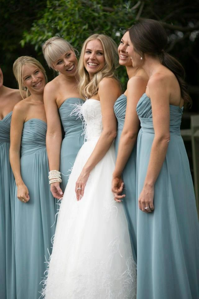 Dessy S Icelandic Blue In A Strapless Gown Dessy Bridesmaid Dresses Wedding Bridesmaid Dresses Dessy Bridesmaid