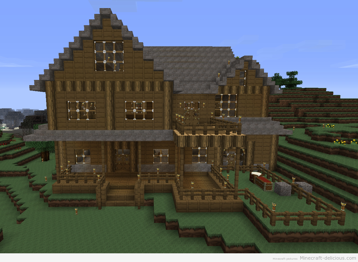 Pin oleh LizC864's Crafts di Minecraft | Mansion minecraft