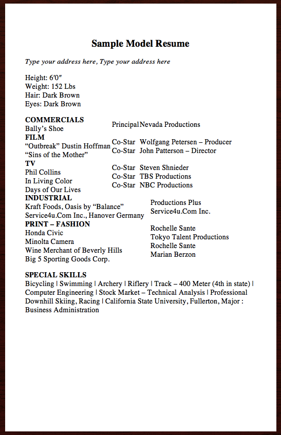 Here Is Another Resume Related To Acting CareerYou Can Preview It