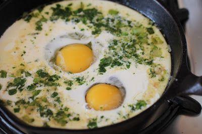 Eggs Baked in Cream... yummmmmmmmm