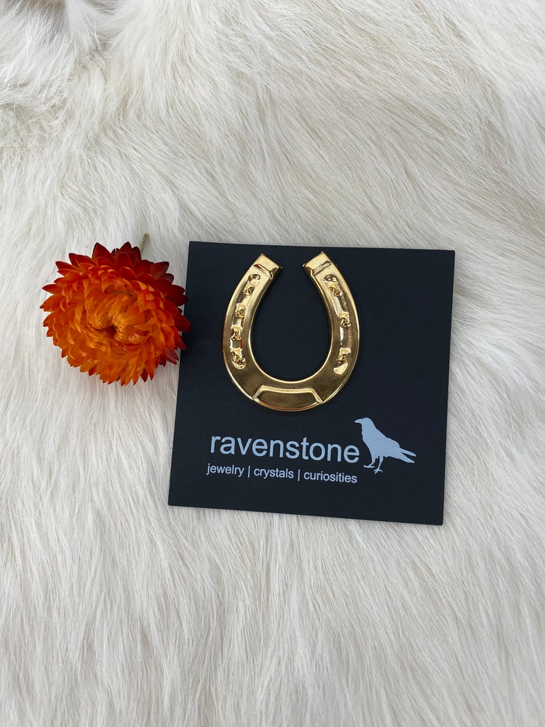 The Golden Horseshoe Pin Lapel Pin Brooch Tac Pin Etsy Unique Jewelry Gold Pin Horseshoe