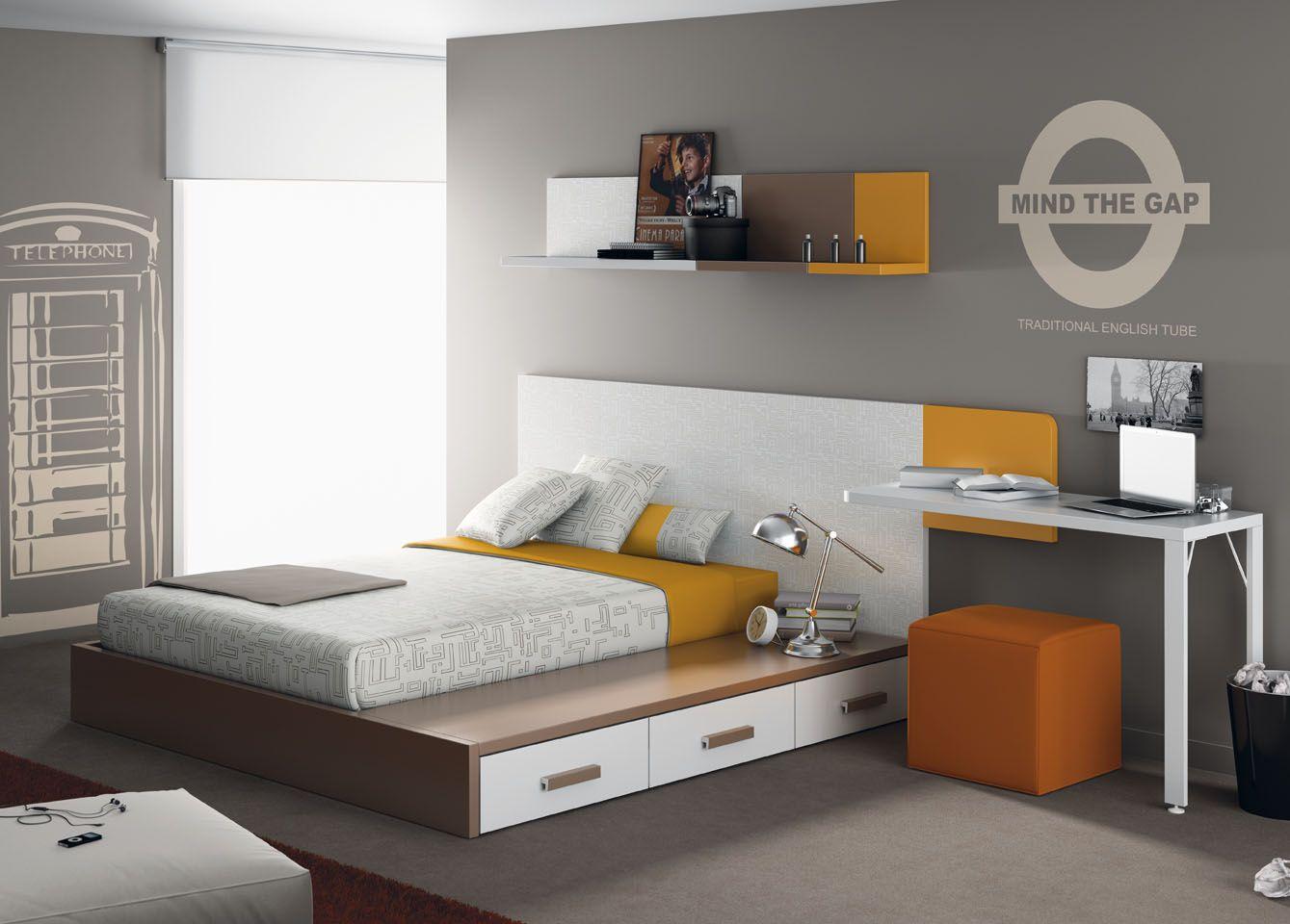 Habitaci n juvenil del cat logo de mueble juvenil kids - Simulador pintar habitacion ...