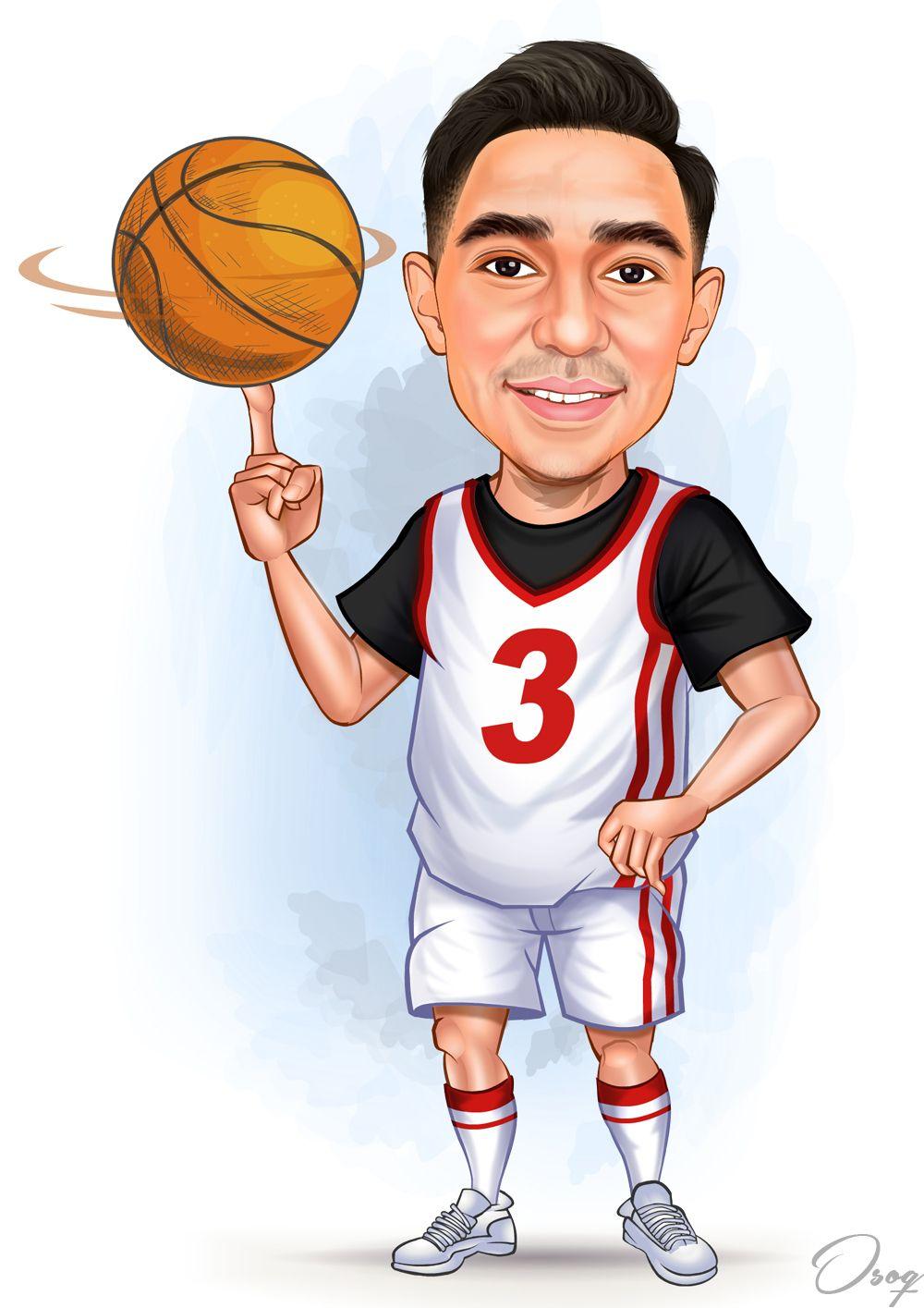 Basketball Cartoon Cartoon Man Basketball Players Basketball Bedroom Girls