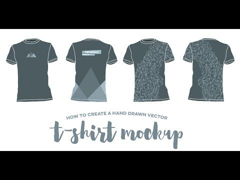 Download How To Create A Hand Drawn Vector T Shirt Mockup How To Draw Hands Shirt Mockup Clothing Mockup