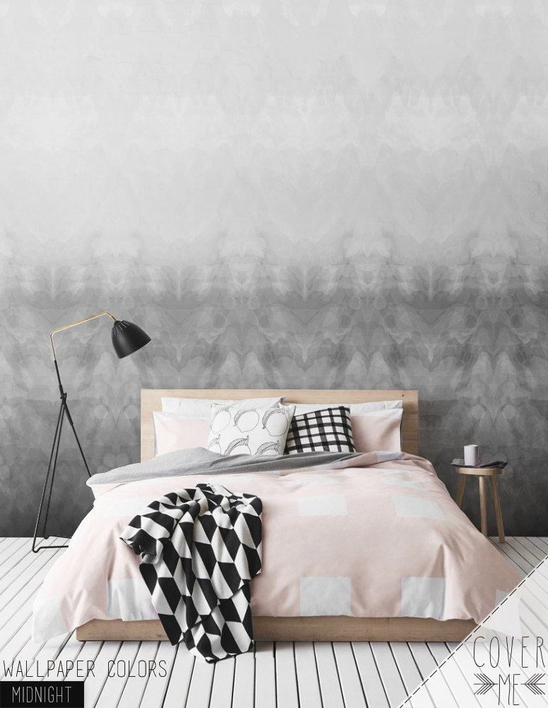 MIDNIGHT Temporary watercolor pattern Self-adhesive vinyl Wallpaper  - Peel and Stick wallpaper - CM055 by CoverMEwallpapers on Etsy https://www.etsy.com/listing/242001739/midnight-temporary-watercolor-pattern