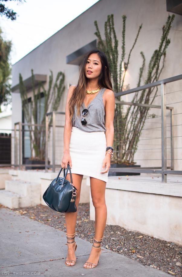 Resultado de imagem para outfit white skirt