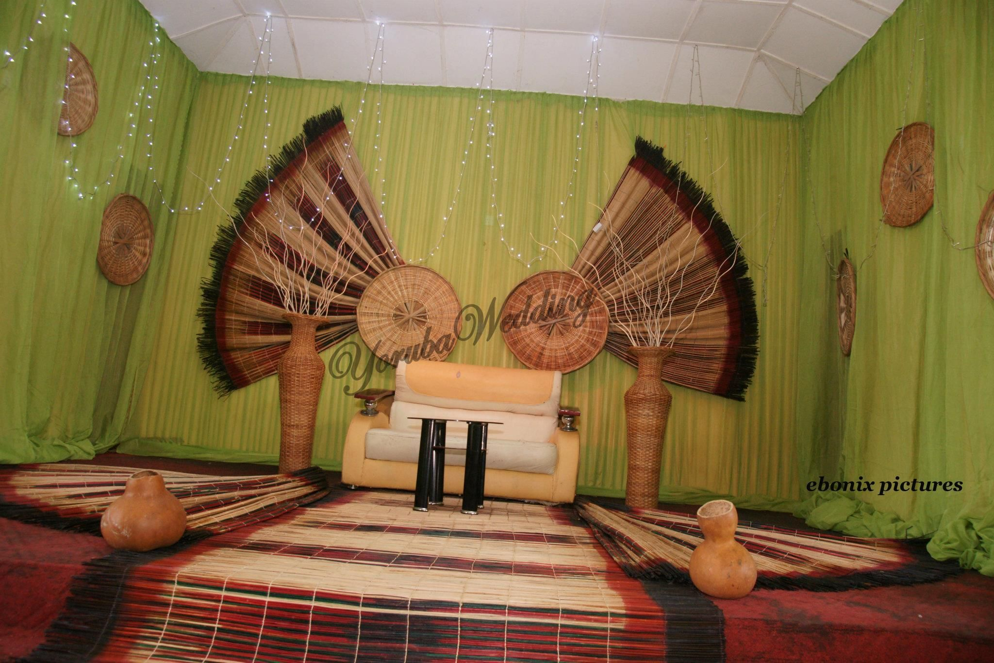 Nigerian wedding stage decoration  BEAUTIFUL YORUBA TRADITIONAL WEDDING DECORATIONS  Yoruba