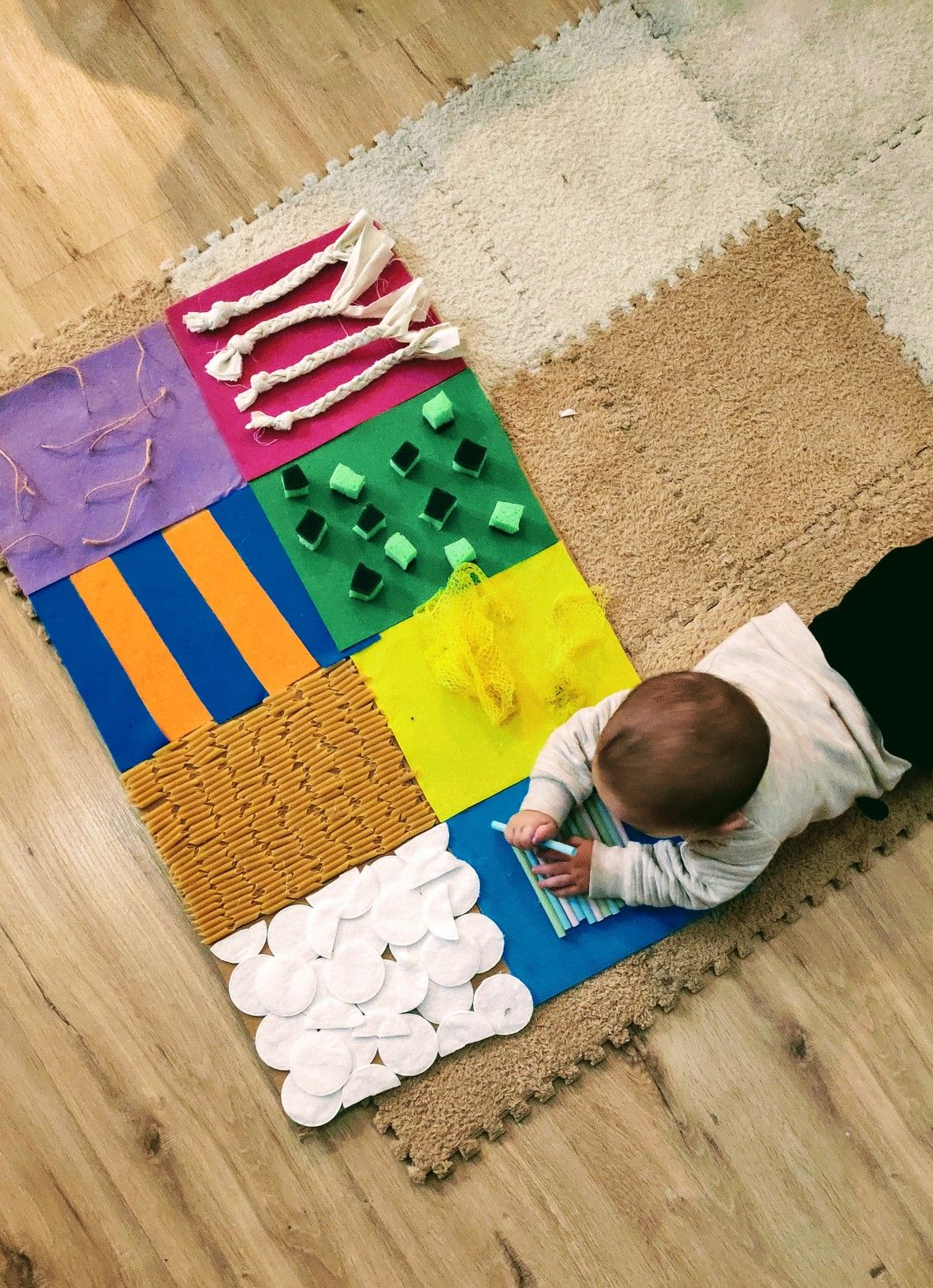 Alfombra Sensorial Alfombras Diy Montessori Bebe 6 Meses