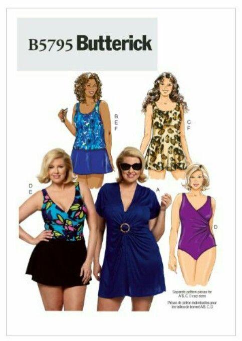 Modest swimwear Sewing pattern | Sewing ideas | Pinterest | Sewing ...