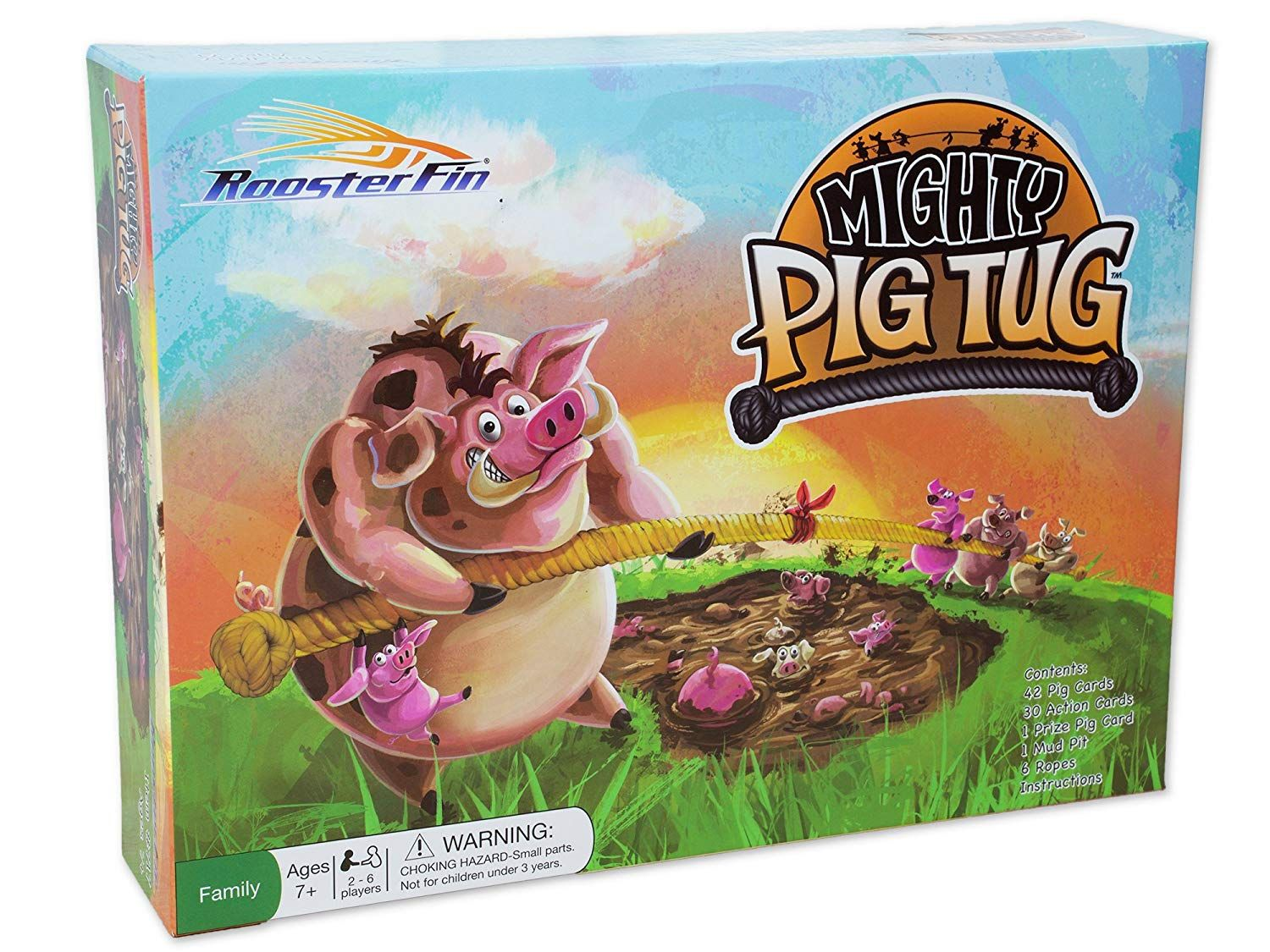 Mighty Pig Tug Family Board Game – Card Game of Tug of