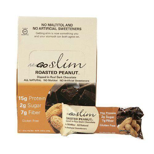 NuGO Nutrition Bar - Slim Roasted Peanut - 1.59 oz - Case of 12