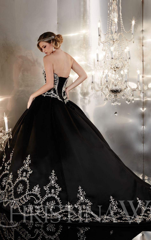 Christina Wu '20'   Black wedding gowns, Long wedding dresses ...