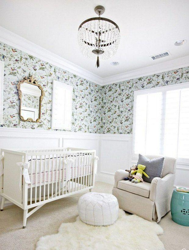 déco chambre bébé fille : des idées à croquer | papier peint ... - Papier Peint Pour Chambre Bebe Fille