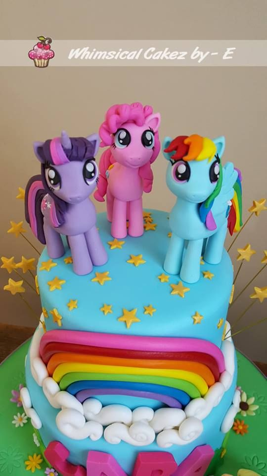 My Little Pony Cake Fondant Toppers Birthday