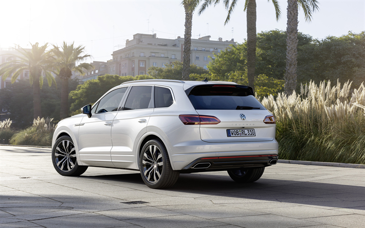 Wallpapers Volkswagen Touareg 2019 4k Rear View