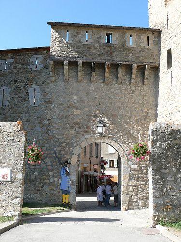 Porte de Savoie, Colmars-les-Alpes, Provence, France