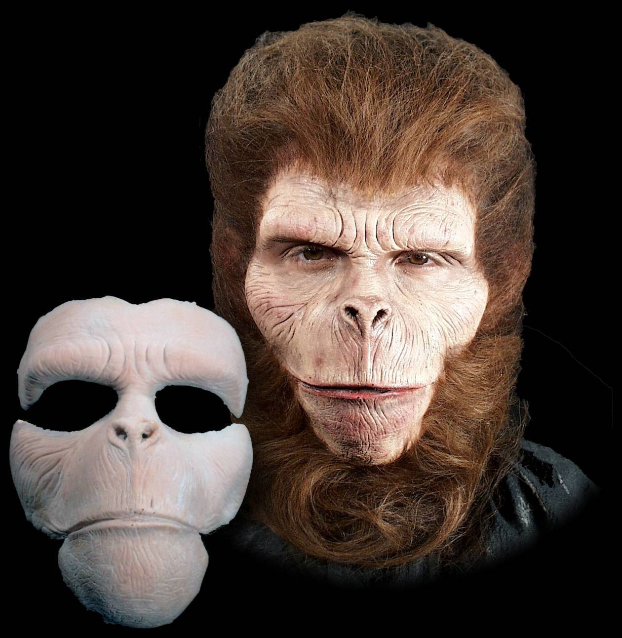 Chimpanzee Ape Halloween Mask Foam Latex Prosthetic Appliance ...