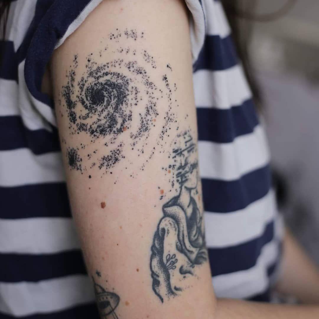 Space Dotwork By Charlie Kopas Bordeaux Dotwork Tattoo Space