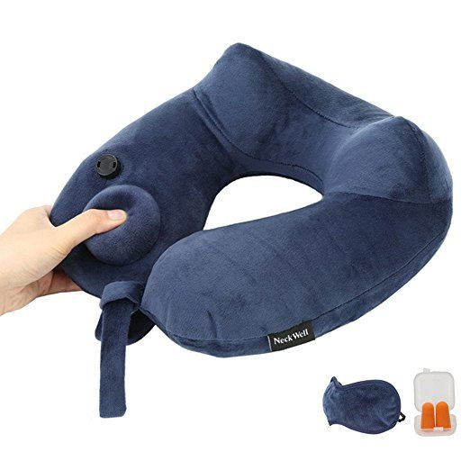 Inflatable Kids Travel Pillow for