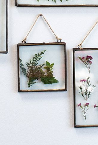 hanging metal double glass frame 6x65 - Double Glass Frame