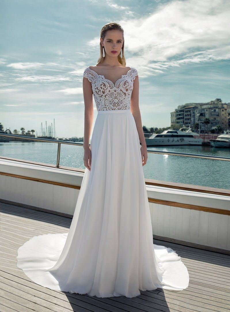 Sleeveless v neck a-line wedding dress - wedding gown, lace wedding dress, Demetrios Bridal Wedding Dresses #weddingdress #weddinggown #weddingdresses #bridalgown