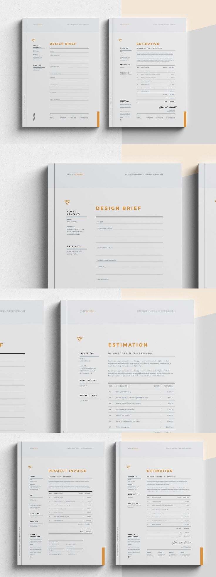 Brief - Estimation - Invoice Templates InDesign INDD | Design ...