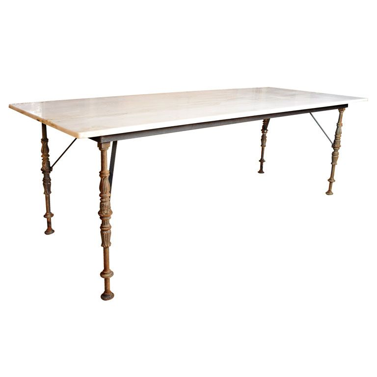 Amazing Marble Top Dining Table USA Century Metal Base Dining Table Made From  Antique Metal Legs Salvaged From Plaza Hotel In New York Topped With  Beautiful Danby ...