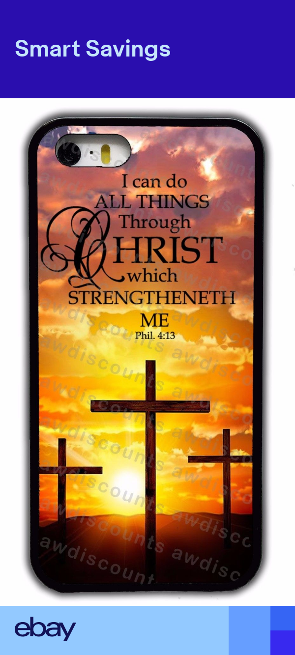 JESUS CHRISTIAN CROSS BIBLE VERSE CASE FOR IPHONE XS MAX