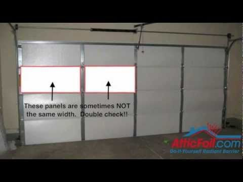 Garage Door Insulation Diy Radiant Barrier Using Perma R It Can Be Purchased At Lowes Buy 4 Sheets Garage Doors Garage Door Insulation Door Insulation