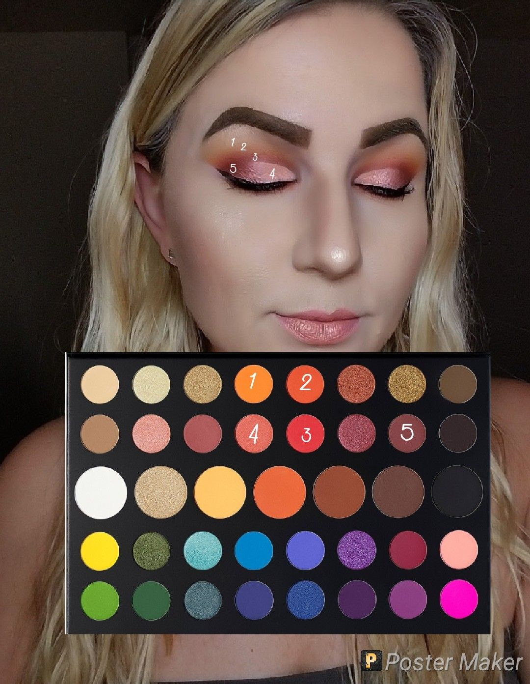 Look by numbers james Charles palette by morphe