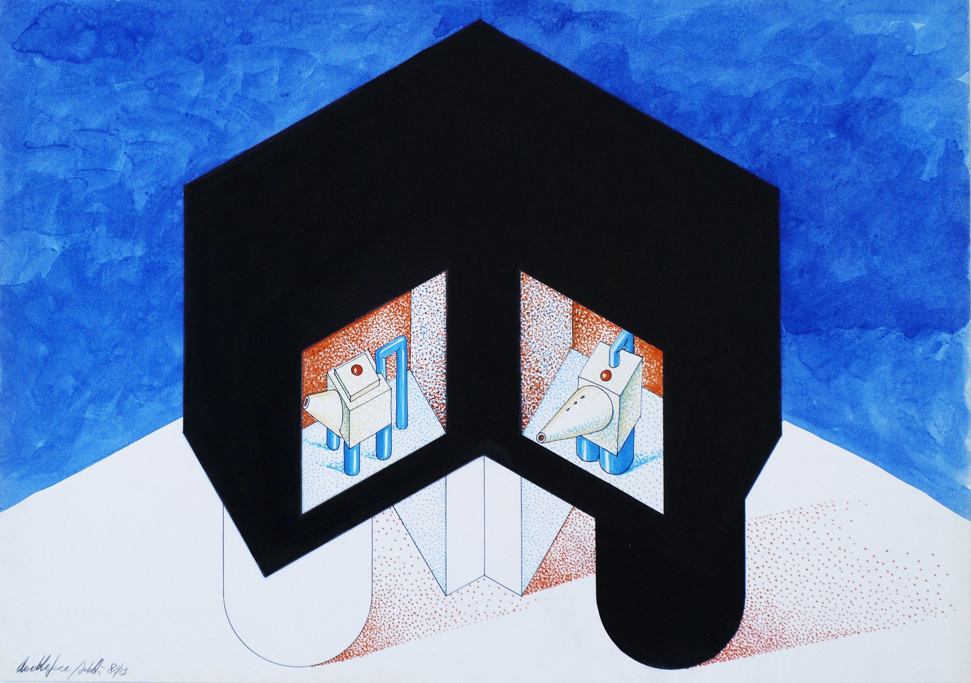 1977 A_ OLIERE_1983_cartone cm. 50 x 70 by Brunetto De Batté