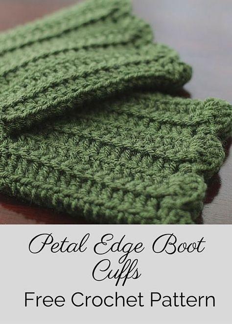 Free Boot Cuffs Crochet Pattern Free Crochet Crochet And Patterns