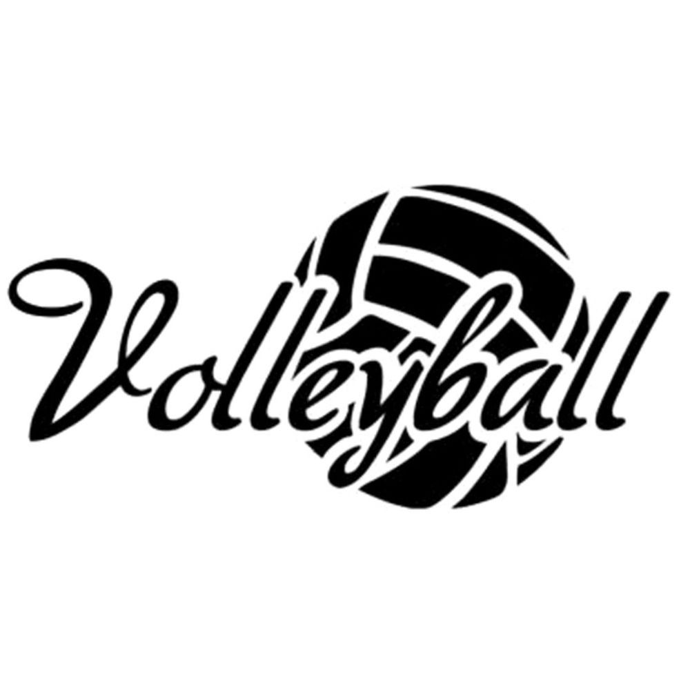 Volleyball decal sticker car window bedroom home decor