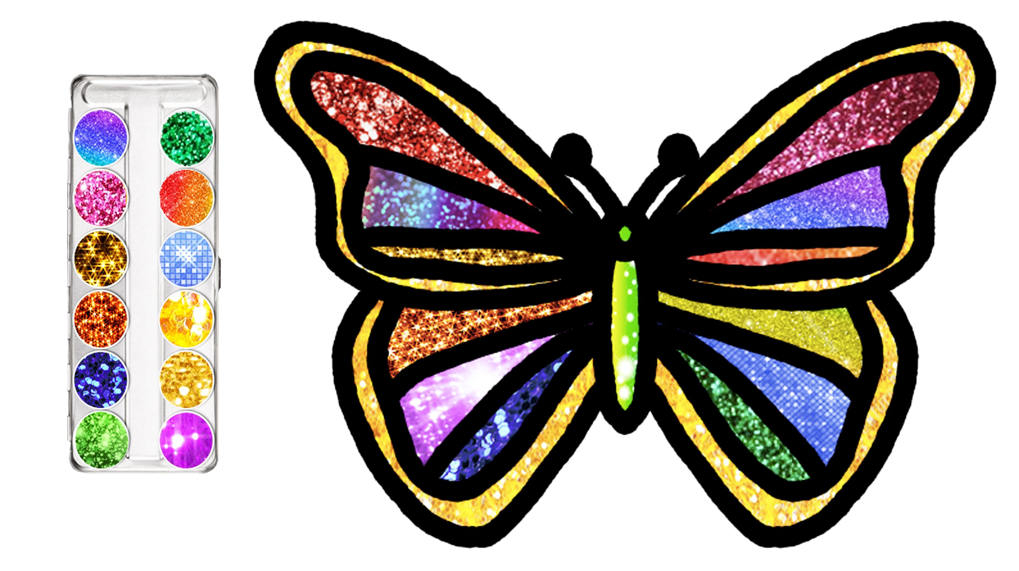 How To Draw Beautiful Glitter Butterfly Fun Easy Coloring Videos Coloring Pages Book For Kids Art Journal Therapy Easy Drawings For Beginners Fun Easy