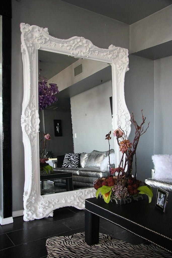 Best Seller Floor Mirror Italian Baroque Rococo Style in Lacquer ...