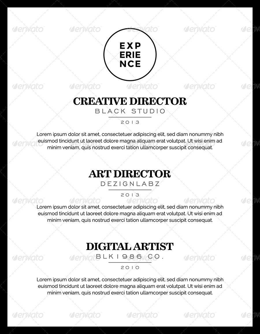 Black elegant resume booklet resume booklet clean