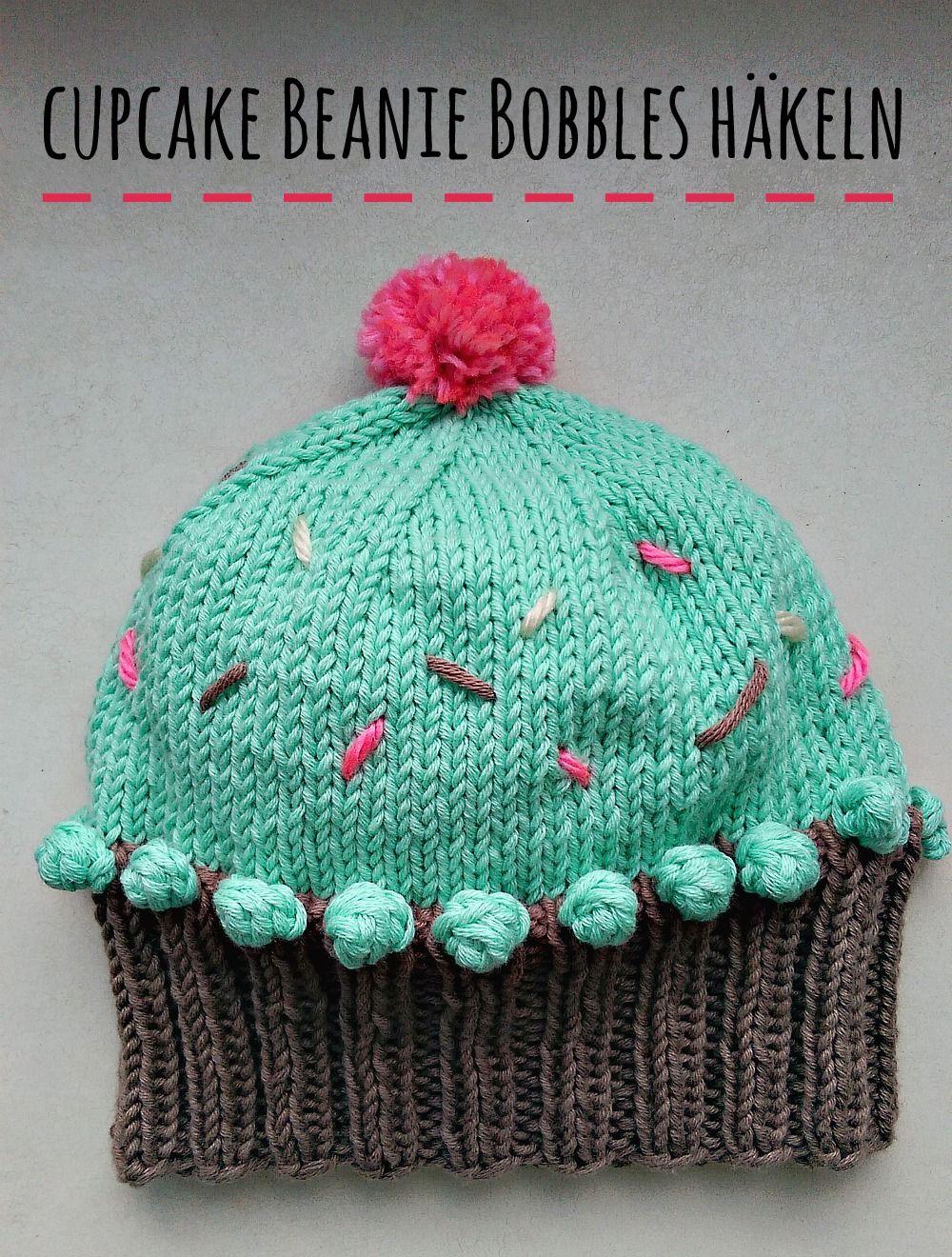 Cupcake Beanie stricken | Beanie stricken, Beanie und Cupcake