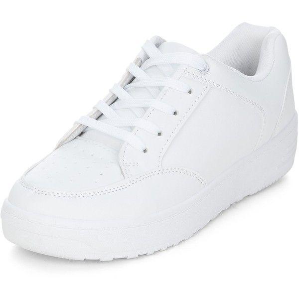 shoes, Lace up trainers, White colour shoes