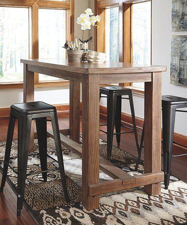 Light Brown Pinnadel Dining Room Bar Table #zulily #zulilyfinds