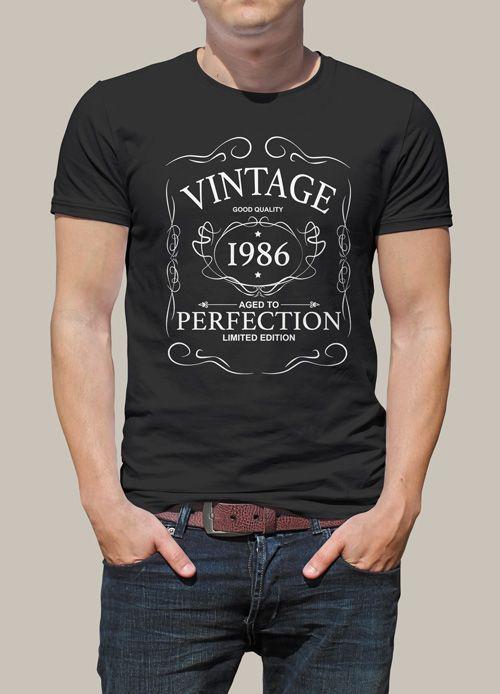 tee shirt personnalis pour un cadeau d 39 anniversaire r ussi avec ce tee shirt vintage 1986. Black Bedroom Furniture Sets. Home Design Ideas