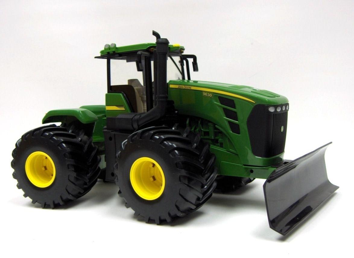 1 16 John Deere 9630 Big Farm Tractor W Blade Lights Sounds