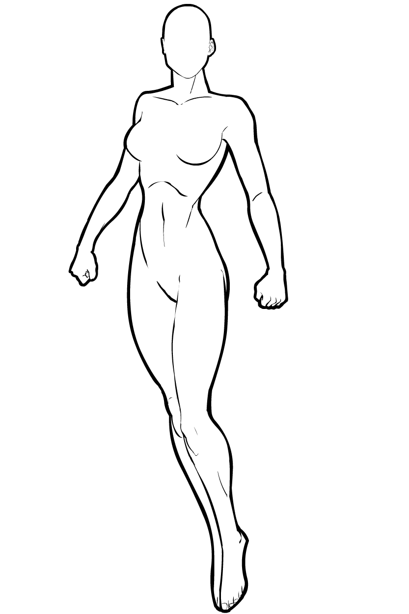female superhero template b female b standing heromachine