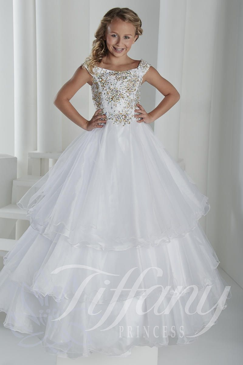 Tiffany Pageant Dresses For Girls Style 13406 | Girls Pageant ...